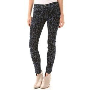 J Brand 811 Velvet Brocade Skinny Jeans